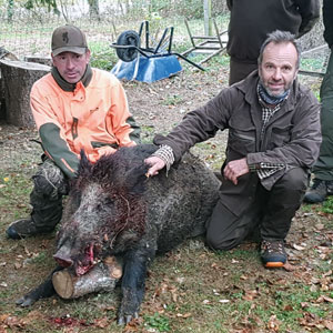 chasse avec chien de pied